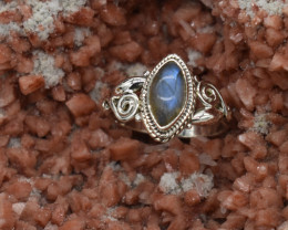 RING 925 STERLING SILVER NATURAL GEMSTONE JE1998