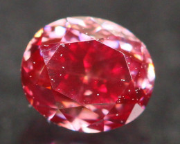 0.21Ct Fancy Purplish Red Natural Diamond E0603