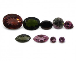 4.6 ct Multi Colour/Salada Tourmaline Lot  - $1 No Reserve Auction