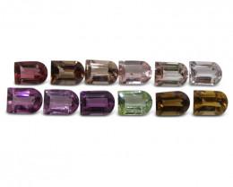 10.3 ct Multi Colour Tourmaline Fancy / Ghost Wholesale Lot
