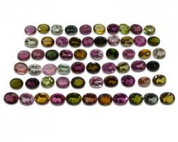 20.26 ct Multi Colour Tourmaline Oval Wholesale Lot