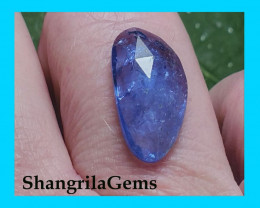 16mm 4.85ct Tanzanite rose cut gemstone cabochon free form 16 by 9 by 3mm