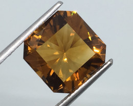 6.49 Carat VVS Citrine Madeira Gold Colored Master Cut Exquisite Flash !