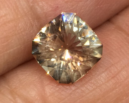 2.89 Carat VVS Sunstone Oregon Master Cut Spectacular Flash and Quality !