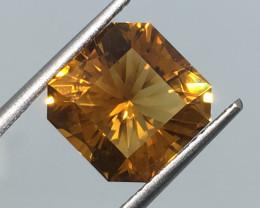 4.41 Carat VVS Citrine Madeira Gold Color Master Cut Brilliant Flash !