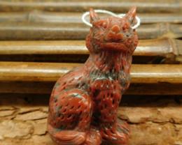 New design red stripe jasper carving wolf head pendant bead (G0374)