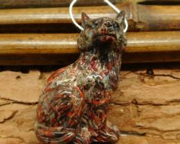 Crazy rosetta agate carving wolf head animal craft (G0376)