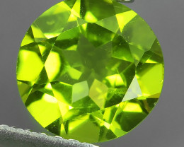 1.90 CTS MAGNIFICENT NATURAL RARE TOP QUALITY PERIDOT ROUND 8.10MM NR!!