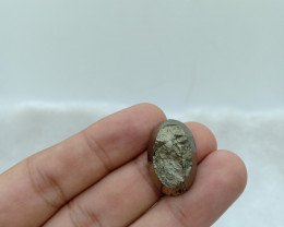 25x16mm Natural Pyrite Druzy Loose Gemstone VAF29