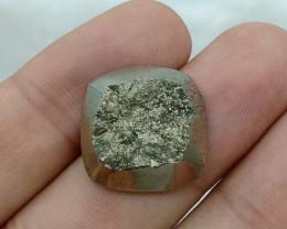 19X19mm Natural Pyrite Druzy Loose Gemstone VAF30