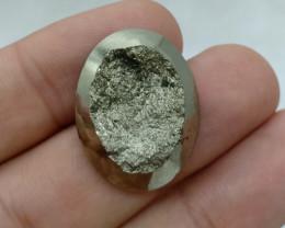 27x21mm Natural Pyrite Druzy Loose Gemstone VAF33