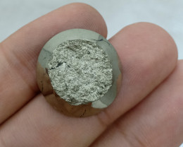 22x22mm Natural Pyrite Druzy Loose Gemstone VAF45