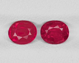 Pair of Rubies, 1.80ct - Mined in Tanzania | Certified by GRS