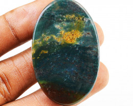 Genuine 57.00 Cts Bloodstone Oval Shape Cab