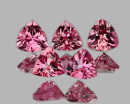 4.00 mm Trillion 5 pcs 1.17cts Orange Pink Tourmaline [VVS]