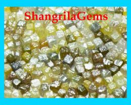 10 cube diamonds 1.5mm 2mm cube 0.5ct silver, grey, green, yellow