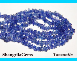 TANZANITE chip beads 4-6mm 18 inch line