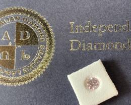 0.46ct 7PP I1 Round Brilliant Pink Diamond