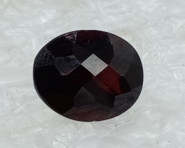 10x8mm Natural Garnet Checkered Gemstone UnTreated VAF71