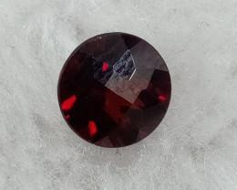 7x7mm Natural Garnet Checkered Gemstone UnTreated VAF72