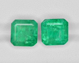 Pair of Emeralds, 9.14ct - Mined in Colombia | Certified by GRS