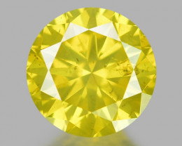 0.46 Ct Yellow Diamond Awesome Luster Gemstone D1