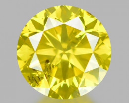 0.48 Ct Yellow Diamond Awesome Luster Gemstone D2