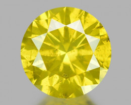 0.40 Ct Yellow Diamond Awesome Luster Gemstone D3