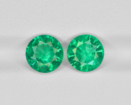 Pair of Emeralds, 2.46ct - Mined in Zambia | Certified by GRS
