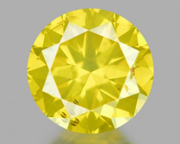 0.31 Ct Yellow Diamond Awesome Luster Gemstone D4