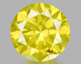 0.40 Ct Yellow Diamond Awesome Luster Gemstone D5