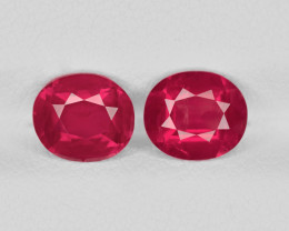 Pair of Rubies, 2.61ct - Mined in Tanzania | Certified by GRS