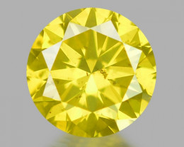 0.29 Ct Yellow Diamond Awesome Luster Gemstone D6