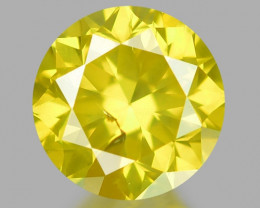0.34 Ct Yellow Diamond Awesome Luster Gemstone D7
