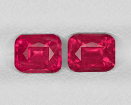 Pair of Rubies, 1.94ct - Mined in Tanzania | Certified by GRS