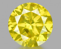 0.30 Ct Yellow Diamond Awesome Luster Gemstone D9