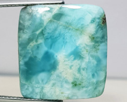 25.50 ct Natural  Larimar Octagon Cabochon Gemstone.