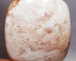 93.90 ct Natural Scolecite Octagon Cabochon Gemstone.
