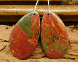 New design picasso jasper earring pais (G0393)
