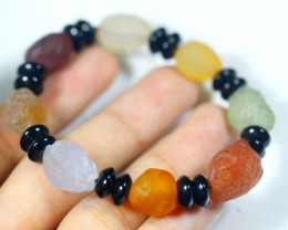 123.5Ct Natural Candy Agate Bracelet