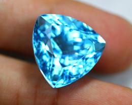 32.31ct Swiss Blue Topaz Trillion Cut Lot D145