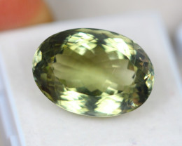 17.51Ct Natural Greenish Prasiolite Oval Cut Lot LZB617