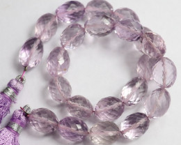 AAA++  8X10-8X12MM PINK AMETHYST FACETED DRUM BEADS-MAGICAL!!
