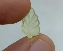 Lemon Quartz LEAF CARVED Natural Untreated VAF102