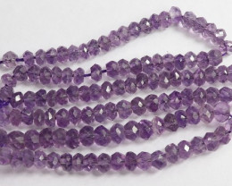 """""""AA+ 4.50-5.000MM LAVENDER AMETHYST FACETED ROUNDELS - GORGEOUS"""""""
