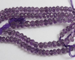 """AA+ 4.50-5.00MM LAVENDER AMETHYST FACETED ROUNDELS - GORGEOUS"""