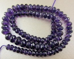 ABSOLUTELY LOVELY AA 7.00-9.00 MACHINE CUT FACETED AMETHYST ROUNDELS!!