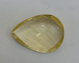 18x13mm Lemon Quartz Checkered Natural Untreated VAF153