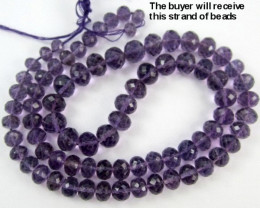 """AAA+ 5-7.00MM BEAUTIFULLY MICRO-FACETED AMETHYST ROUNDELS!!"""