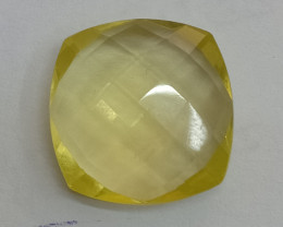 16x16mm Lemon Quartz Checkered Natural Untreated VAF167